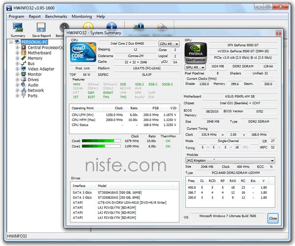 HWiNFO32/64 te muestra la información completa del hardware de tu PC