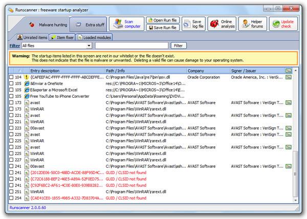 RunScanner, información sobre los procesos activos de tu sistema