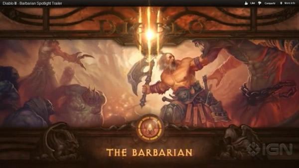 Tráiler de Diablo III: Opciones del personaje Bárbaro