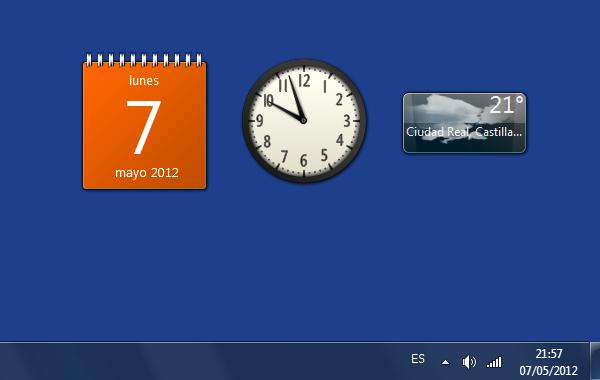 Los Gadgets o Widgets de escritorio dejan de tener soporte por parte de Microsoft