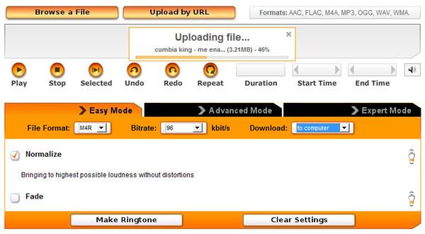 Crear tonos ringtones de llamada para nuestro móvil de forma online en Ringer.org