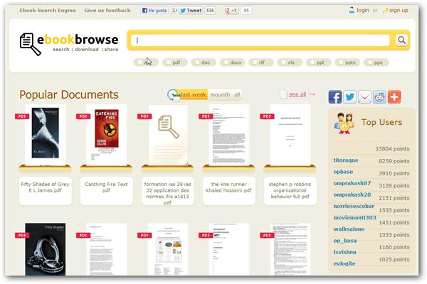 Buscar y descargar libros electrónicos de forma gratis con EbookBrowse