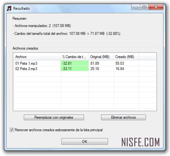 Reduce el tamaño comprimiendo tus archivos MP3 sin perder mucha calidad con MP3 Quality Modifier