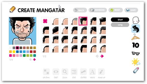 Crear tu propio avatar al puro estilo manga con FaceYourManga