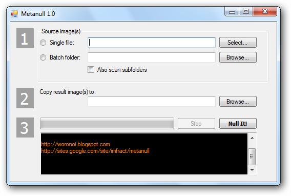 Elimina los datos EXIF de tus imágenes y fotografías con Metanull