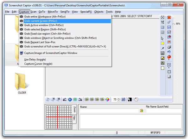 Screenshot Captor, realiza capturas de pantalla