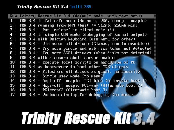 Como instalar Trinity Rescue Kit en una memoria USB