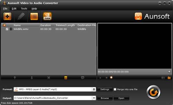 Aunsoft Video to Audio Converter