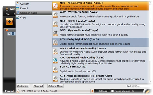 Aunsoft Video to Audio Converter: Extraer el audio de cualquier video