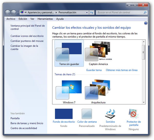 Activar el efecto Aero de Windows 7 Starter y Home Basic