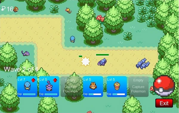 Pokemon Tower Defense HD: Juego en Flash para Google Chrome
