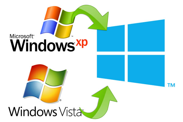 Windows Vista y Windows XP, actualizable a Windows 8