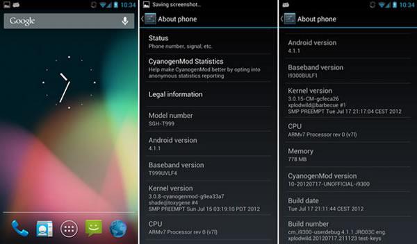 Jelly Bean CyanogenMod 10 ya se puede instalar en el Samsung Galaxy S3
