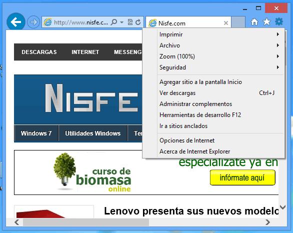 Como activar la versión de 64 bits de Internet Explorer 10 en Windows 8 x64