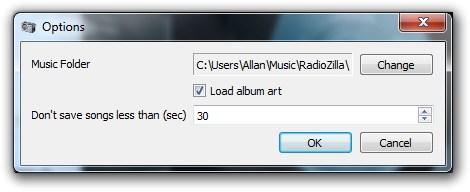 Radio online con opciones para descargar la canción