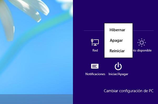 Hibernar Windows 8