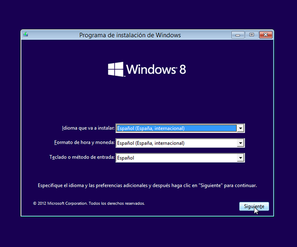 Como instalar Windows 8 paso a paso