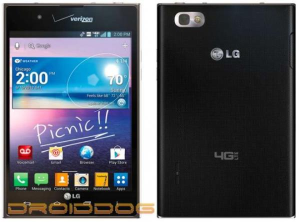 LG Intuition el futuro rival del Galaxy Note 2