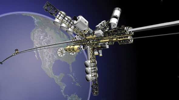 LiftPort, el elevador espacial de la Tierra a la Luna