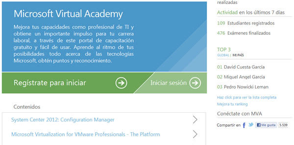 Microsoft Virtual Academy, formación online gratuita con certificado de finalizacion
