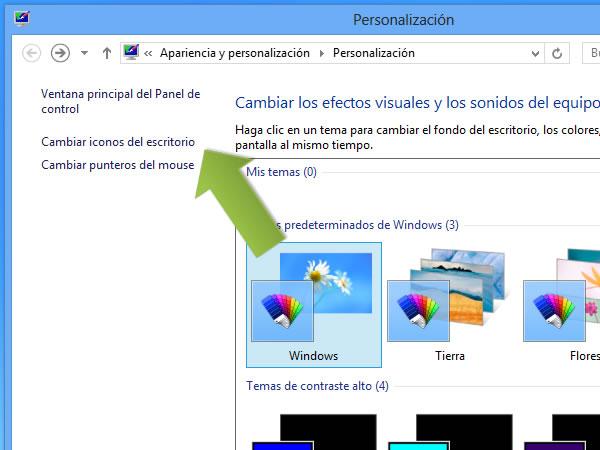 Windows 8: como mostrar el icono de Equipo en el escritorio