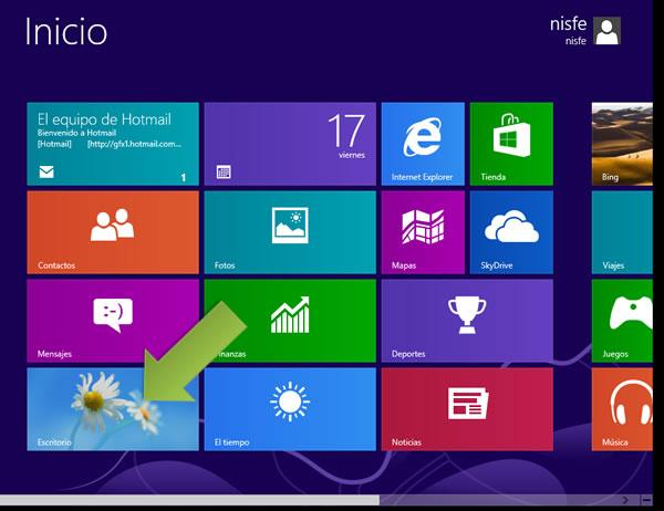 Como mostrar el icono de Equipo en el escritorio de Windows 8