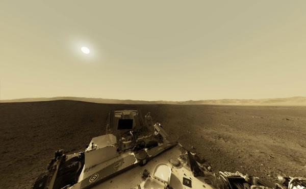 NASA publica una visión panorámica de Marte