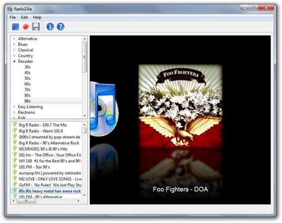Radiozilla: Emisora de radio online con opciones para descargar la canción escuchada