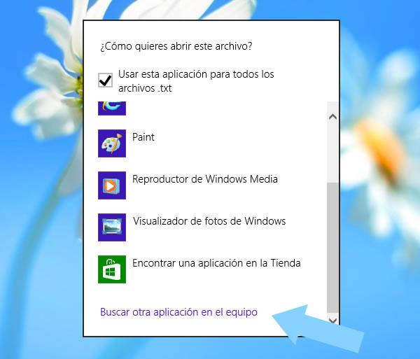 Windows 8: Programa predeterminado para abrir un archivo