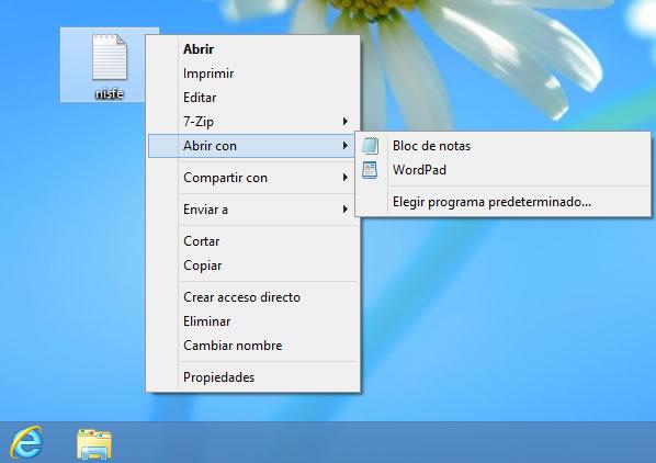 Windows 8: Como cambiar el programa predeterminado para abrir un archivo
