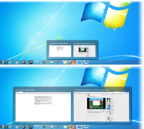 Cambiar de tamaño y personalizar las miniaturas de la barra de tareas de Windows con Taskbar Thumbnails Tuner