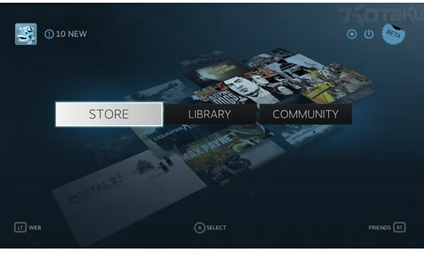 Big Picture, la plataforma de Steam de Valve para los televisores