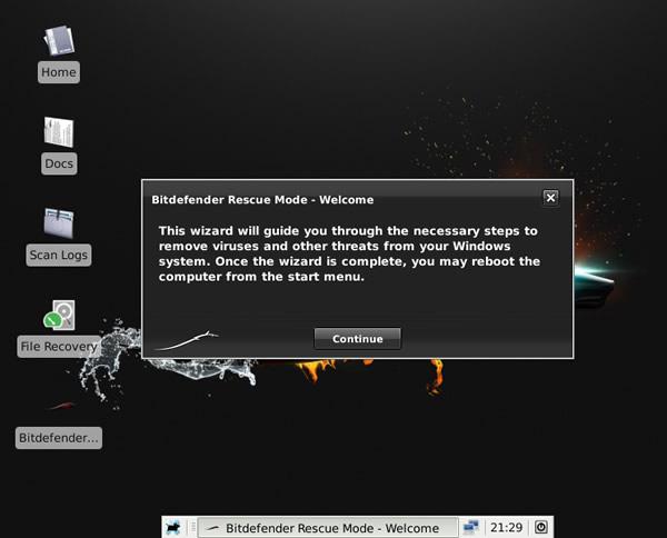 Como limpiar un PC infectado por virus con BitDefender Rescue CD