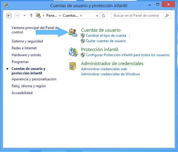 Como crear una nueva cuenta de usuario Windows 8