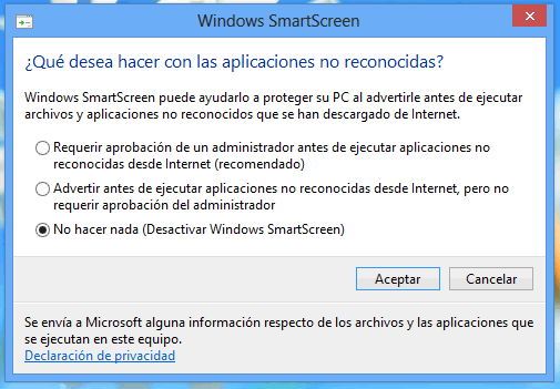 Windows 8: Como activar o desactivar Windows SmartScreen