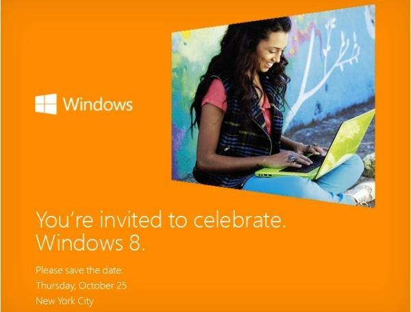 Microsoft ya está enviando las primeras invitaciones para el evento del lanzamiento de Windows 8
