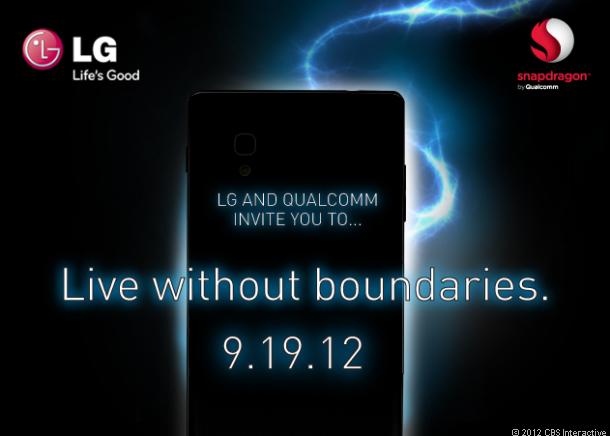 LG lanzara un nuevo teléfono móvil el día 19