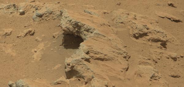 Curiosity encuentra un antiguo lecho de un rio en Marte