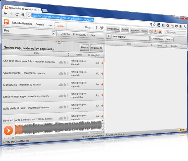 My Cloud Player, buscar y reproducir cualquier música de SoundCloud
