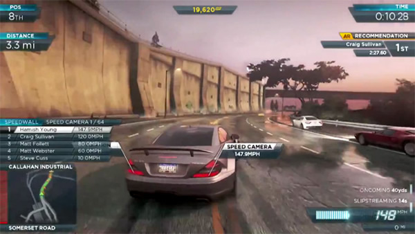 Need for Speed: Most Wanted, nuevo video con coches deportivos