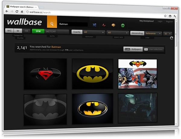 Wallbase Online, miles de fondos de pantalla para personalizar tu PC
