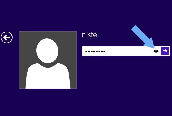 Windows 8: Como desactivar el botón para revelar la contraseña