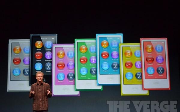 iPods nano estará disponible en 7 colores