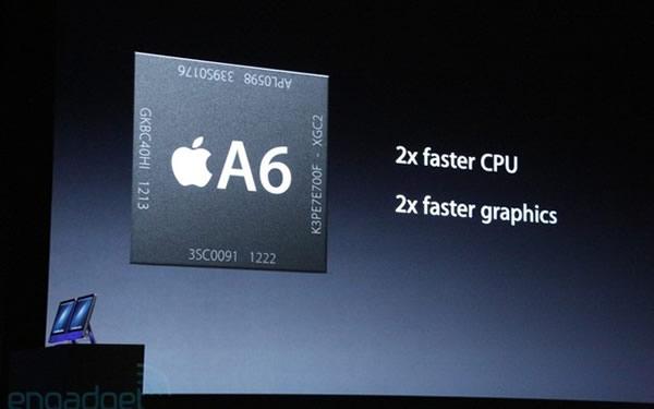 iPhone 5, procesador A6 quad core