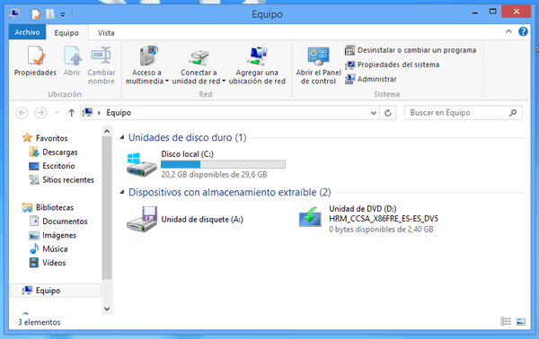 Explorador de Windows 8