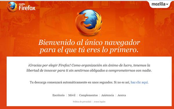 Mozilla solución la falla de seguridad  de Firefox 16, descarga disponible nuevamente