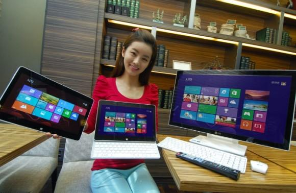 LG anuncia un portátil hibrido y un PC All in One con Windows 8