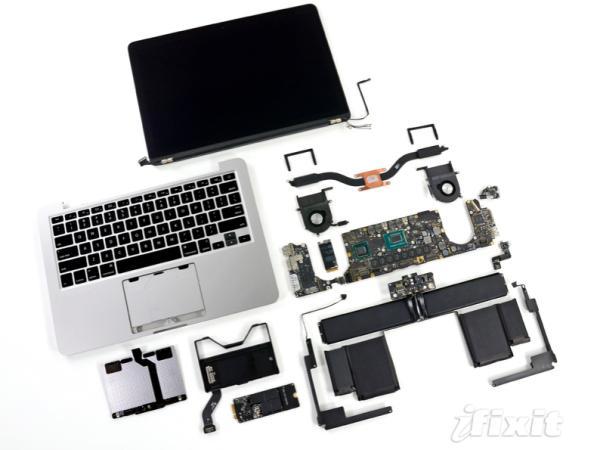 Así es el interior de una MacBook Pro de 13 pulgadas