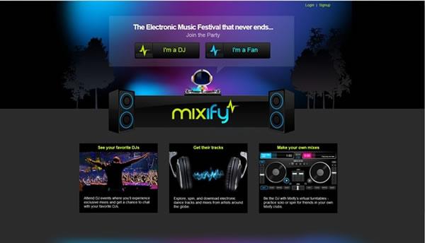 Mixify, sitio tanto para fans de la música electrónica como para DJ