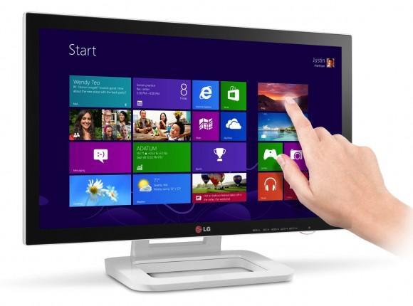Monitor LG ET83 con pantalla táctil diseñado para Windows 8